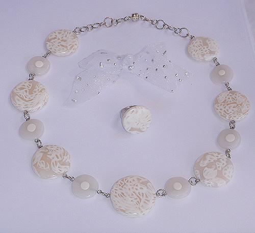 Unikaten poročni nakit - Kolekcija Bela grlica