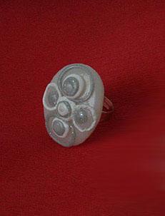 Unikaten poročni nakit - prstan Kolekcija Bela golobica