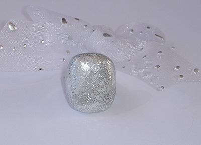 Unikaten poročni nakit - prstan Kolekcija Srebrna rosa