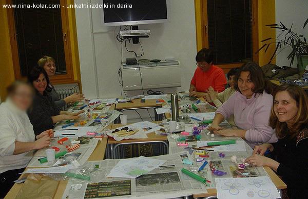 Ustvarjalne delavnice - Novo mesto - tehnika Mille Fiori - delavnica