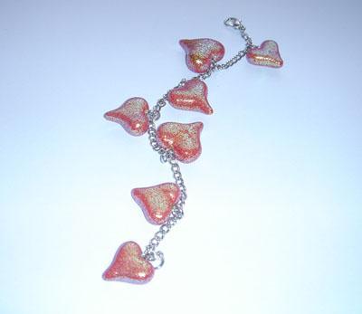 Unikatna, ročno izdelana valentinova zapestnica