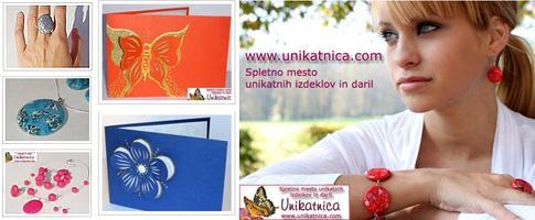 Unikatna darila iz e-trgovine Unikatnica.com (avtorica: Nina Kolar)