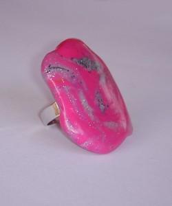 Unikaten prstan iz kolekcije Ciklamna poezija