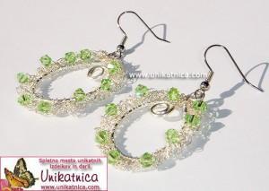 Unikatni kvačkani uhani s kristali Swarovski