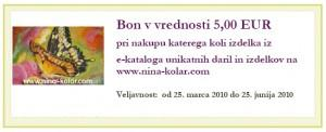 Bon v vrednosti 5 EUR