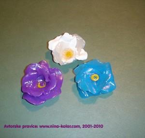 Unikatne vrtnice iz Fimo in Cernit mase