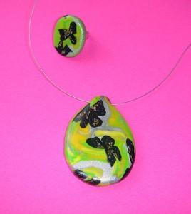 Unikaten nakit - komplet iz kolekcije Pomladanska eleganca