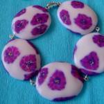 Unikatna zapestnica iz kolekcije Vijolična eleganca