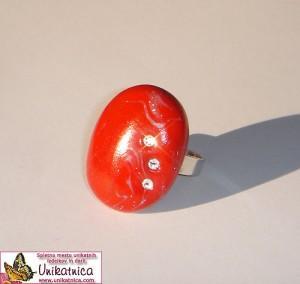 Unikatni prstan s Swarovski kristali