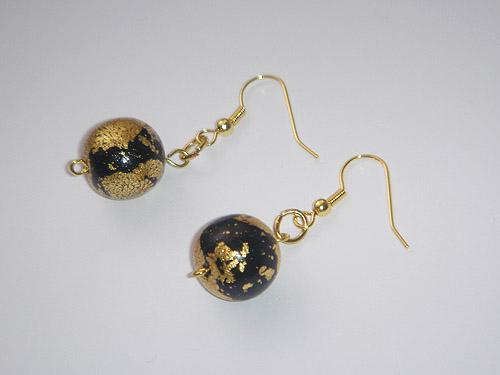 Ustvarjalne ideje - unikatni uhani - uhančki iz perl in paličic z zanko