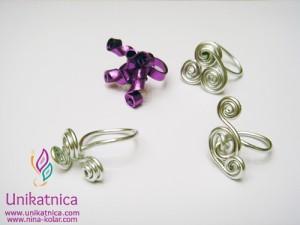 Ustvarjalne delavnice - nakit iz žice - Novo mesto 25. 3. 2014 - ranzobarvni prstani iz žice