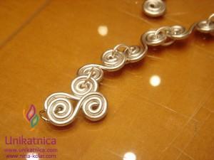 Ustvarjalne delavnice - nakit iz žice - Novo mesto 25. 3. 2014 - zapestnica iz žice v staro-rimskem slogu