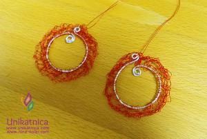Fotoreportaža iz ustvarjalne delavnice izdelave nakita iz žice v Zagradcu - 24. 5. 2014 - Vau, takšne uhane bi lahkonosila tudi najbolj imenitna filmska diva :)
