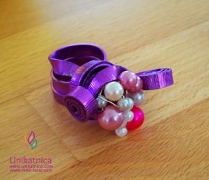 """Fotoreportaža iz ustvarjalne delavnice - Zagradec 24. 5. 2014 - čudovit unikatni prstan, ki soga ustvarjalke poimenovale """"polžek"""" :)"""