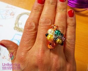 """Ustvarjalne delavnice - barve so vedno """"in""""! In tale čudovit prstan prav tako!"""