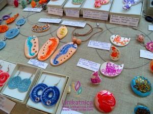 Ustvarjalna tržnica Qlandia Novo mesto 13. 6. 2014, glineni nakit