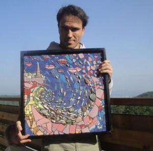 Robert Lisac - mozaik Flying Kisses