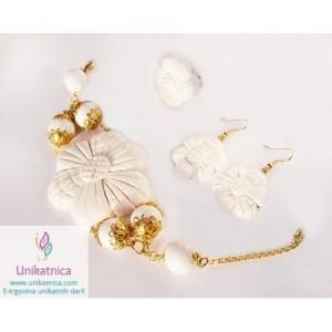 Čutna eleganca - komplet nakita za izbrane priložnosti - na ustvarjalnem sejmu vam bo na voljo po zelo ugodnih cenah