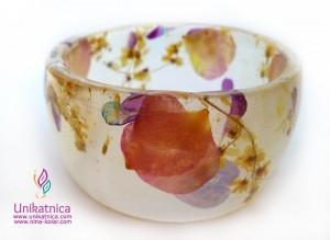Cvetlični nakit - zapestnica s cveticami