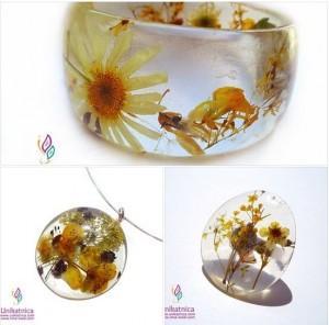 Cvetlični nankit - zapestnica, ogrlica in prstan