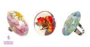 Cveltični nakit - prstani s pravimi cveticami