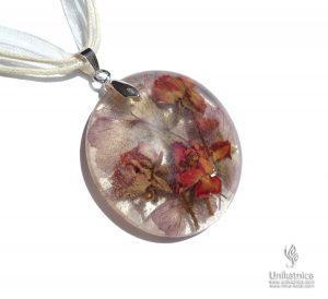 Arrt of Fun - Cvetlični nakit - ogrlica z vrtnicami in krvomočnico