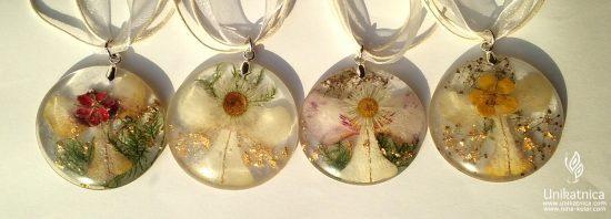 Cvetlični nakit - nova kolekcija angelsko vilinskih cvetličnih ogrlic