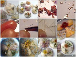Zimska kolekcija - cvetlični nakit - angeli in vilinke