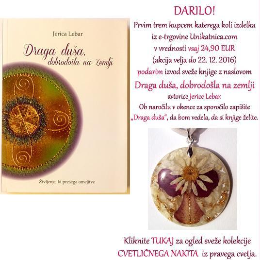 Darilo ob nakupu izdelka - knjiga Draga duša, dobrodošla na zemlji avtorice Jerice Lebar