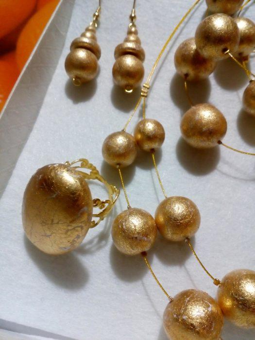 Vinska kraljica Slovenije 2017 Maja Žibert - unikatni komplet nakita