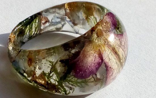 Angelsko vilinski cvetlični prstan -sveže