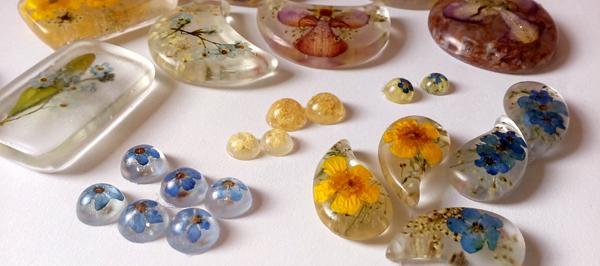 Cvetlični nakit - sveža poletno jesenska kolekcija unikatnega nakita