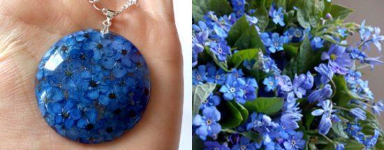 Torilnica - gozdna spominčica - nova pomladna kolekcija cveltičnega nakita