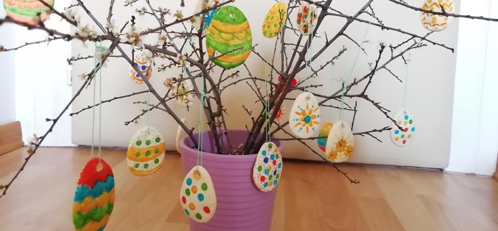 Ustvarjalne ideje - Velikonočna jajčka - obeski