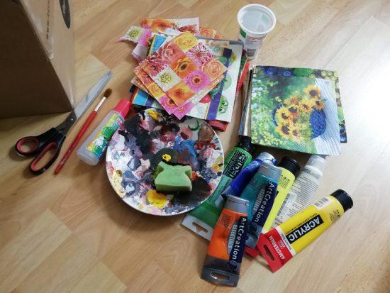 Ustvarjalne ideje - prenova starih shranjevalnih škatel - pripomočki
